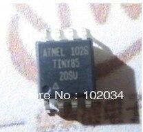 100% NEW ATTINY85 TINY85 8-bit MCU with 2/4/8K Bytes In-System Programmable Flash IC(ATTINY85-20SU)