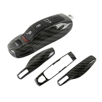 3pcs Carbon Fiber Color FOB Remote Key Case Key Cover Modified Key Shell Refit Porsche Boxster
