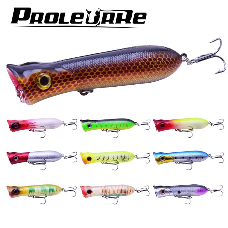 1pcs Popper Topwater Fishing Lure 11.5g 8cm Plastic Hard bait Fishing Tackle Artificial Bass Floating Pencil Pesca Wobbler