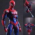 Play Arts Kai Spider Man Spider Man Venom Spider Man superhéroe PA Secret Wars Peter Parker 27 cm acción PVC Figure Doll Toys regalo de los cabritos