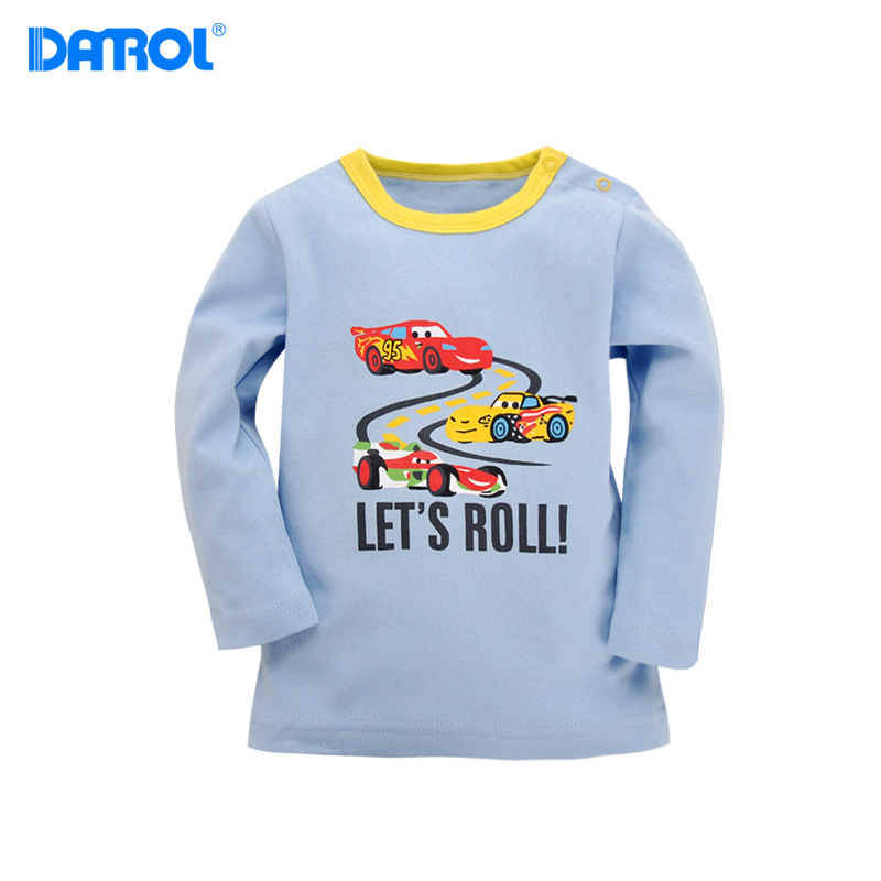 DANORL Baby tshirt Boys girls long sleeves T-shirt Kids Tees children cartoon clothing tops