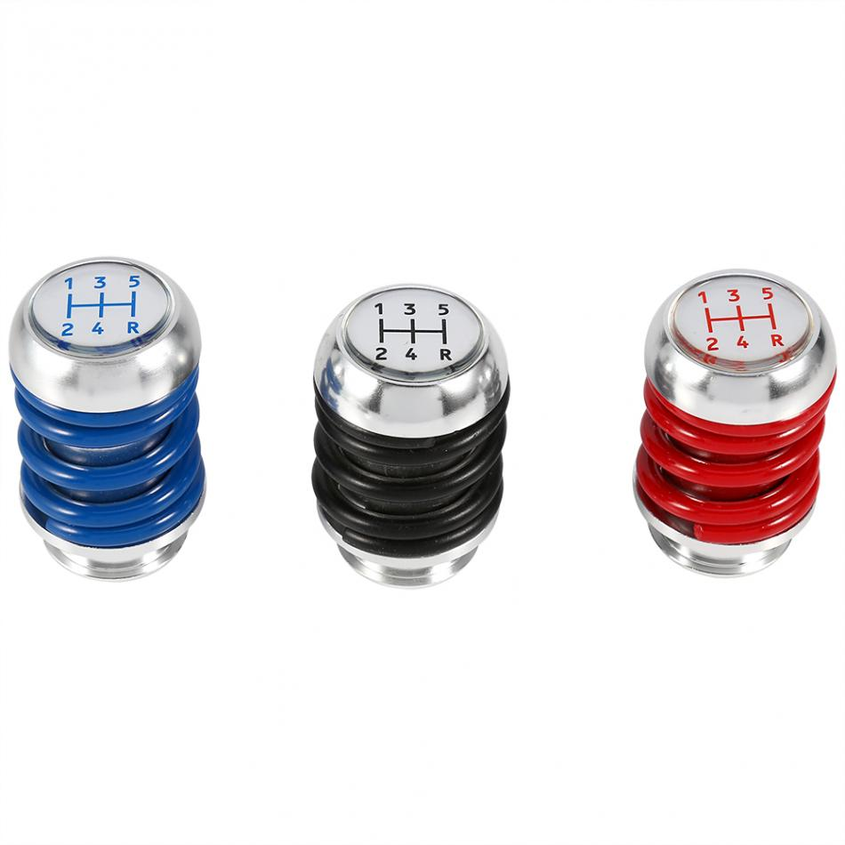 5 Speed Manual Car Gear Shifter Stick Shift Knob Lever Universal Aluminum Spring Gear Shift Knob