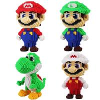 Super Mario Micro Blocks Stitch Micro blocks DIY Building Toys Cute Cartoon Large granule Building Block Toys