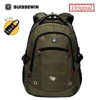 Suissewin Supreme Backpack Men Swissgear Backpack For Teenage Boys Quality Laptop Bag Pack Students Bag Black
