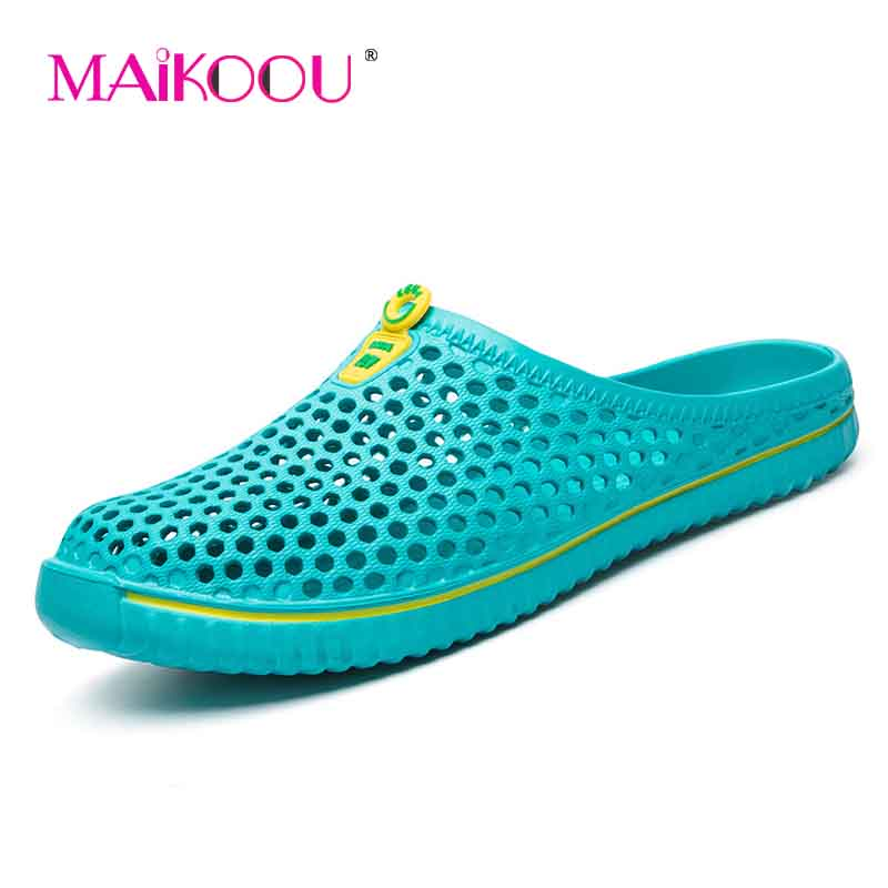 MAIKOOU 2018 Summer New Men sandals breathable smooth and comfortable sandals home slippers Generous classic