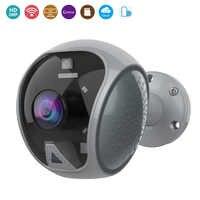 Al aire libre Wifi de la cámara de seguridad Ip de 1080p CCTV de seguridad 120 grado gran angular de la cámara de vídeo de vigilancia ir led intermitente alarma