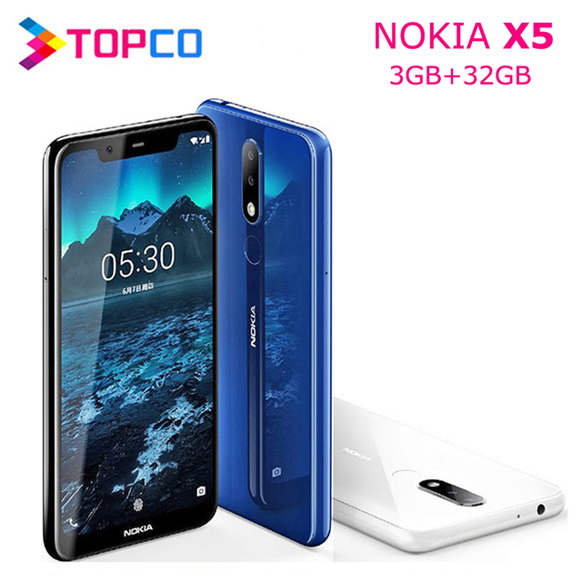 Nokia X5 Nokia 5.1 Plus Original Unlocked Android Mobile Phone Octa Core 4G LTE 5.86'' 3GB RAM 32GB ROM Dual SIM 13MP&5MP&8MP