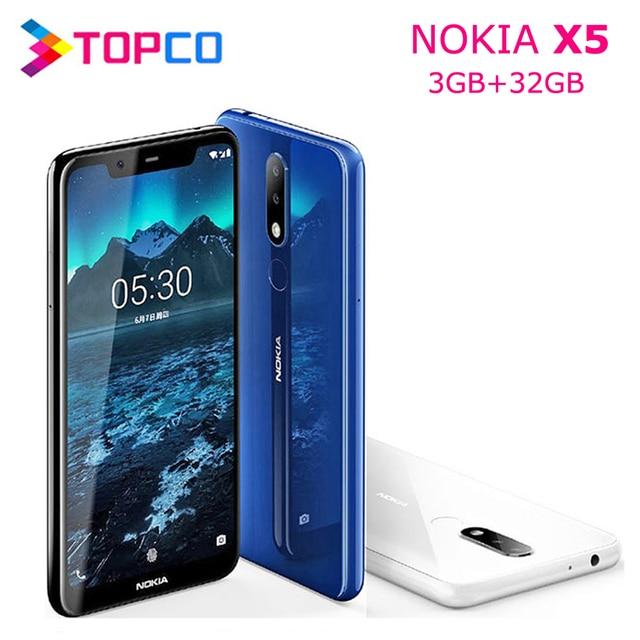 Nokia X5 Nokia 5.1 Plus Original Unlocked Android Mobile Phone Octa Core 4G LTE 5.86'' 3GB RAM 32GB ROM Dual SIM 13MP&5MP&8MP
