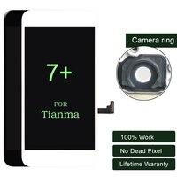 グレード天馬品質5ピース用iphone 7プラスlcdディスプレイスクリーン交換レンズpantallaでタッチデジタイザーdhl