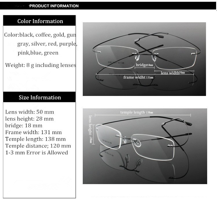 rimless optical glasses (6)