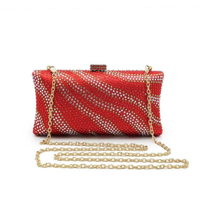 Women Handbag Red Wedding Stain Silk Diamond BridalBag Women Shoulder Bag Free Shipping Clutch ...