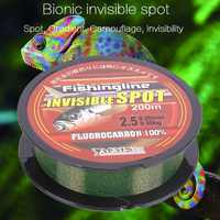 Invisible Nylon Fishing Wire Fluorocarbon Coated Spotted Fishing Line Strong Wear-resistant Fishing Leader Monofilament Line