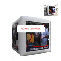 1PC Outdoor Customizable Inflatable Cube Advertising Helium Balloon with 4 Sides Printing with Blower