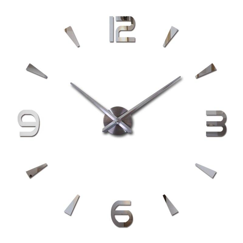 2017 Nuevo reloj de pared reloj de cuarzo salón grandes relojes decorativos modernos horloge murale todavía vida pegatinas