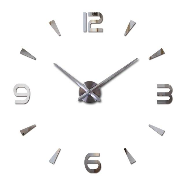 2017 new wall clock reloj de pared quartz watch living room large decorative clocks modern horloge murale still life stickers