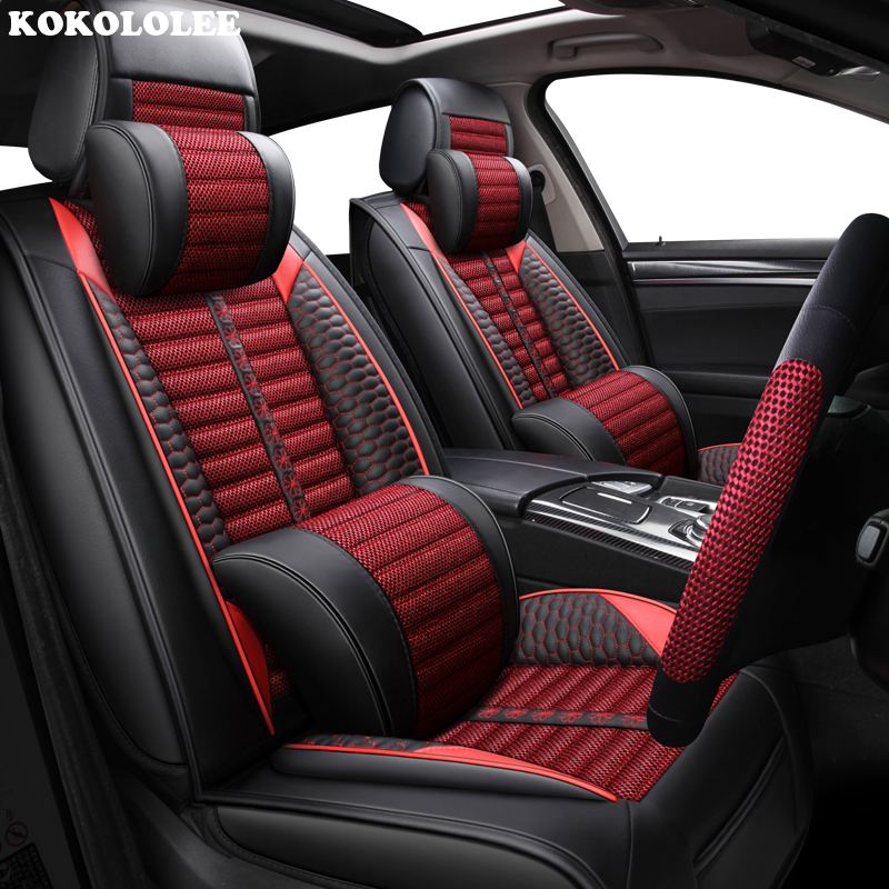 KOKOLOLEE Car seat covers for TOYOTA Corolla RAV4 Highlander PRADO Yaris automobiles seat cover auto accessories car-styling kokololee pu leather car seat cover for toyota rav4 hyundai creta fiat linea 500x vw polo audi a3 8l car styling car accessories