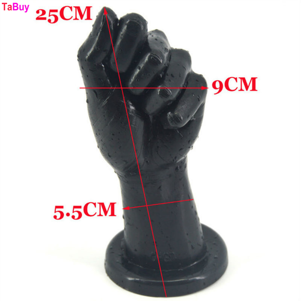 Tabuy Adult Fist Sex Huge Realistic Hand Anal Plug Suction Cup 25*9 cm Large Butt Plug Anal Sex Toys Erotic Sex Toys 2017 multi color small dildo realistic penis anal plug butt sexy stopper strong suction cup dong erotic adult sex toys for women
