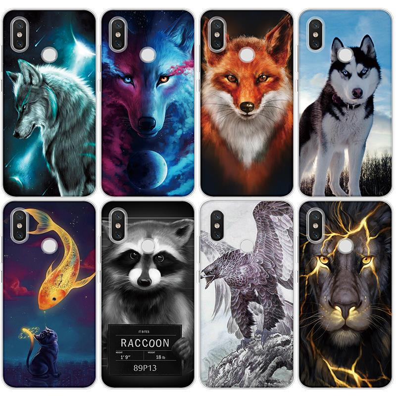 Wolf Lion TPU Cases For iPhone XS <font><b>Max</b></font> X XR 5 SE 6s S 8 7 Plus Cover For <font><b>Xiaomi</b></font> <font><b>Mi</b></font> 8 <font><b>Mi</b></font> A1 A2 5X 6X 5 5S 6 <font><b>Mi</b></font> Mix <font><b>2</b></font> 2S TPU <font><b>Fundas</b></font> image