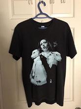 Top VTG MARILYN MANSON POSTER Holy Wood T Shirt  Usa Reprint New Summer Short Sleeves Fashion T-Shirt