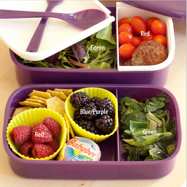 98d0ce1556be US $4.7 53% OFF|Fun Life 12:00 It's lunch time Japan style double tier  Bento Lunch Box,Large meal box tableware Easy Open Microwave Oven(00098)-in  ...