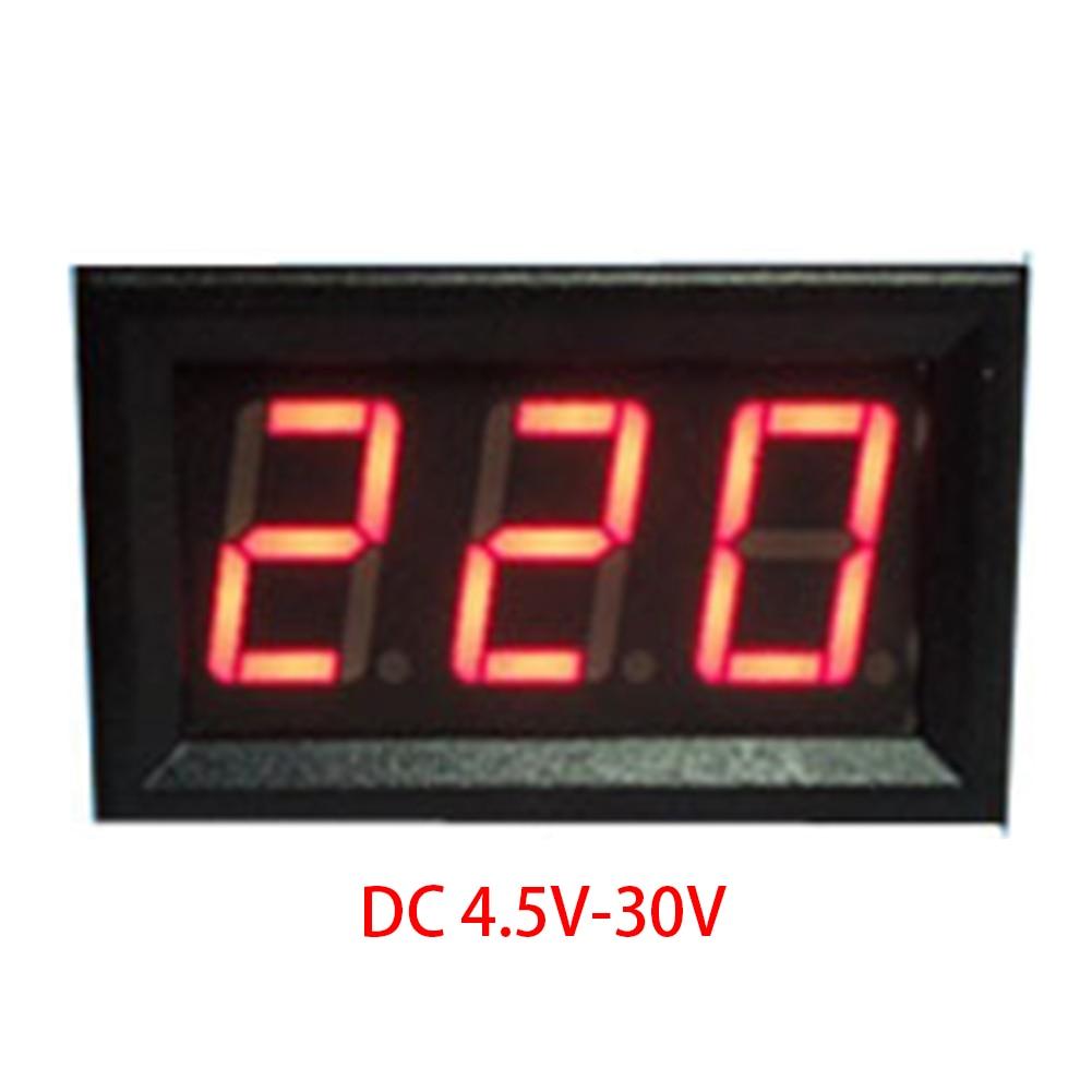 Mini 2 Cables DC4.5V-30V Voltmeter 0.56in LED Digital Voltmeter With Reverse Connection Protection Electrical Voltage MeasureMini 2 Cables DC4.5V-30V Voltmeter 0.56in LED Digital Voltmeter With Reverse Connection Protection Electrical Voltage Measure