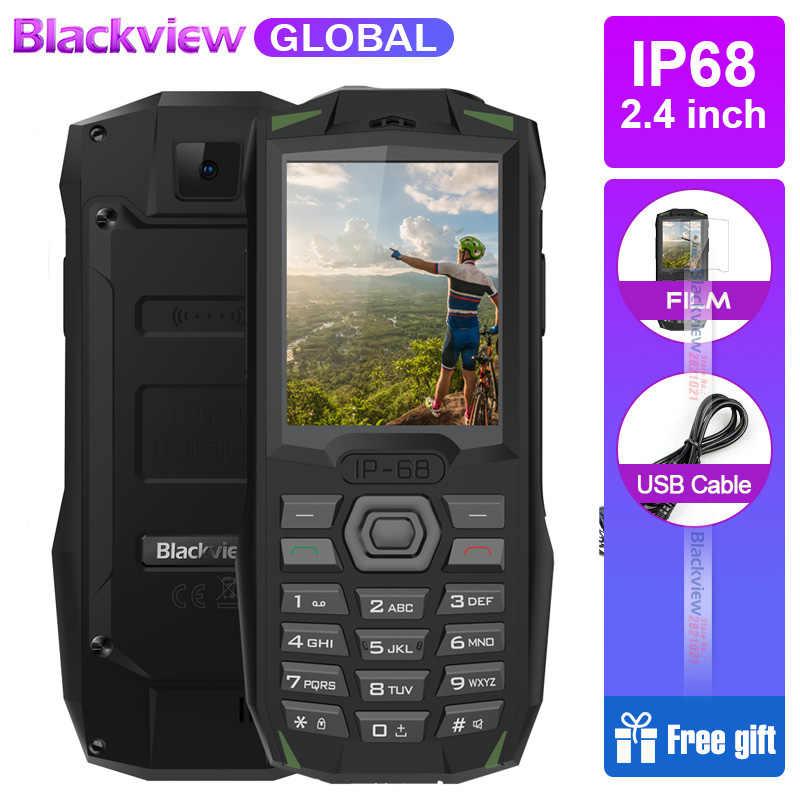 Blackview BV1000 IP68 étanche téléphone portable robuste antichoc 2.4 pouces MTK6261 3000mAh double SIM Mini lampe de poche portable 32RAM