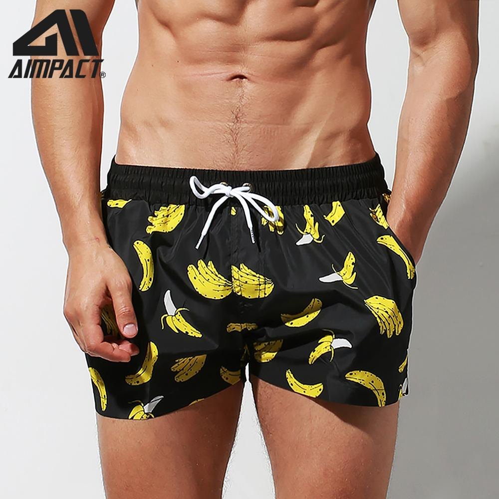 Desmiit Fast Dry   Board     Shorts   for Men Banana Printing Sexy Swim Trunks Holiday Surf Beachwear Waterwear Hybird   Shorts   DT95