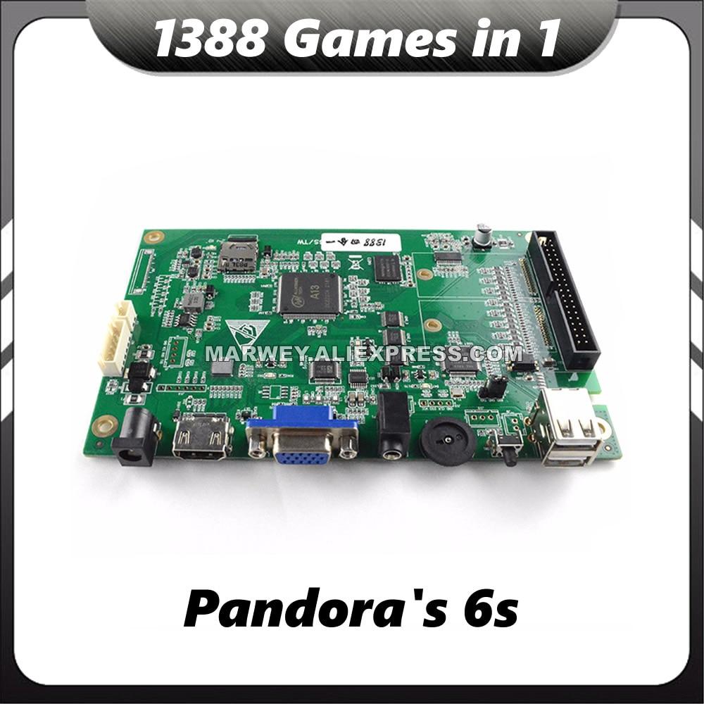 Game Box 6S 1388 In 1 MAME Jamma VGA Pandoras DIY Cabinet Machine Motherboard Parts Console Multi Arcade PCB Board Cartridge Kit