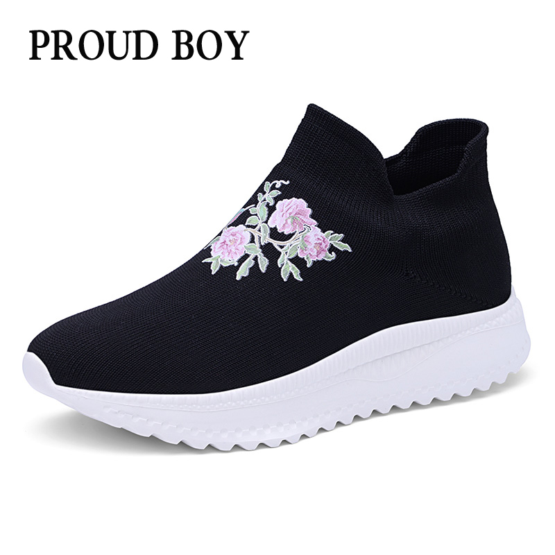 Новая Осенняя женская спортивная обувь, уличная дышащая обувь без шнуровки, сетчатая обувь для бега для женщин, легкие носки, спортивные кро...