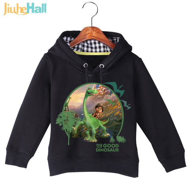 "Jiuhehall Hot Sale Baby Girl Boy Cartoon Long Sleeve ""Dinosaur"" Printing Sweatshirts Baby Kids Autumn Winter Hoodie Tops GCM017"
