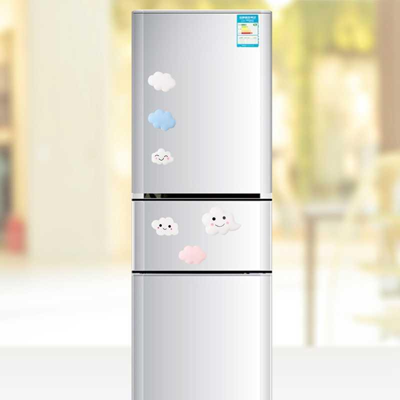 Cloud Refrigerator Sticker White Cloud Painting Resin Magnetic White Clouds Cartoon Resin Fridge Magnets Souvenir Decoration