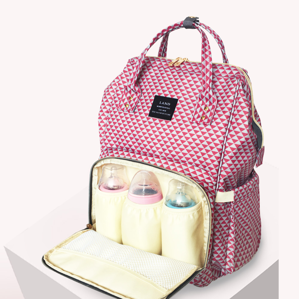 LAND Large Capacity Maternity Nappy Bag For Baby Care Baby Bag Travel Backpack Designer Outdoor Mummy Nursing Bag !