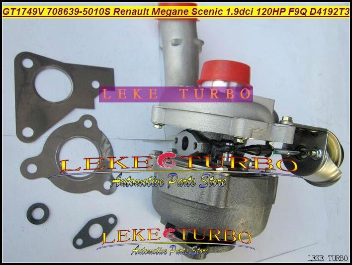 GT1749V 708639 708639-0005 708639-0007 708639-0010 Turbo For Renault Espace Laguna Megane For Nissan Primera V40 D4192T F9Q 1.9L gt2556s 711736 711736 0003 711736 0010 711736 0016 711736 0026 2674a226 2674a227 turbo for perkin massey 5455 4 4l 420d it