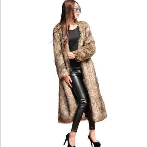 Норковые женские пальто 2019 длинная норка зимнее пальто из искусственного меха Верхняя одежда женская Норковая Роскошная Шуба с длинным рукавом Большие размеры G471