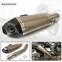 For kawasaki Z800 Z 800 2013 2014 2016 Exhaust Muffler Escape Middle Mid Contact Pipe Motorcycle Full System Exhaust Slip On