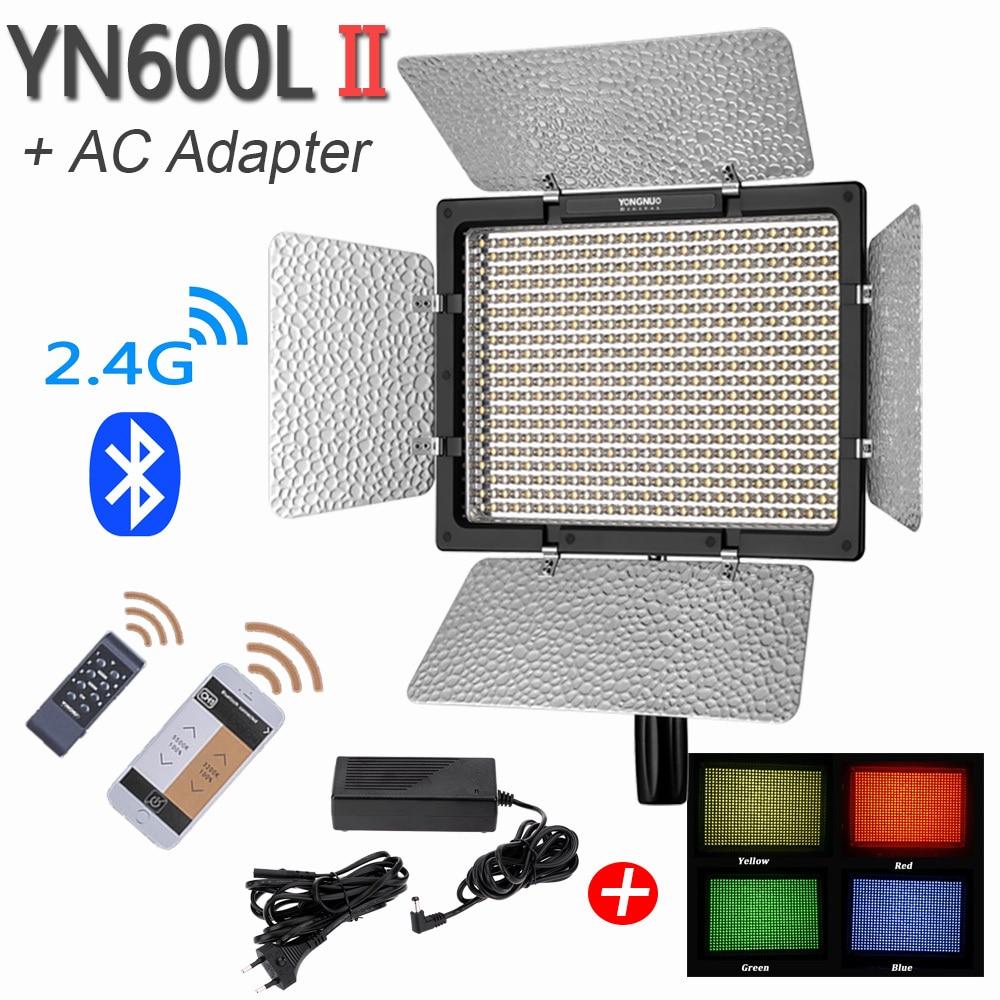 YONGNUO YN600L II LED Photo Video Light with Power Adapter LED Panel Lamp Studio Photography Lighting
