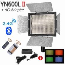 YONGNUO YN600L II LED Фото Видео Свет с Адаптером Питания Лампы СВЕТОДИОДНЫЕ Панели Studio Фотография Освещение для Видеокамеры Камеры DSLR