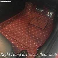 ZHAOYANHUA правый руль автомобиля коврики для BMW 2 серии F22 F23 218i 220i 228i 218d 220d 226D 6D Стильный коврик для автомобиля flo