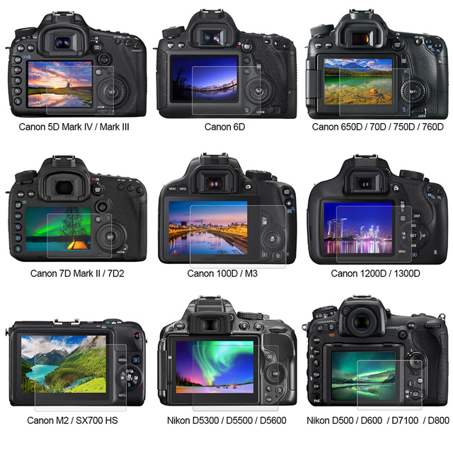 US $1 78 46% OFF|YCDC For Canon 5D Mark3 6D 7D2 M3 70D/750D/80D/6D/200D  Camera Screen Protector For Canon LCD Guard Film Tempered Glass Flim-in  Phone