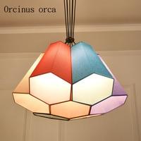 Nordic simple chandeliers idyllic cozy bedrooms children's halls chandeliers free shipping