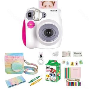 Image 5 - Fujifilm Instax Mini 7s Film natychmiastowy kamera i zestaw akcesoriów, w tym Mini Film, etui, Album fotograficzny, soczewki zbliżeniowe Selfie ect.