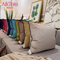 Avigers Modern Cushion Cover Pillow Luxury Solid Velvet Pillowcase Christmas Home Decorative Sofa Throw Pillow Gold Blue Green