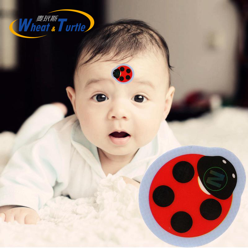 4Pcs/Lot Baby Cartoon Forehead LCD Thermometer High-Precision Forehead Thermometer No Mercury Battery Health Body Temperature