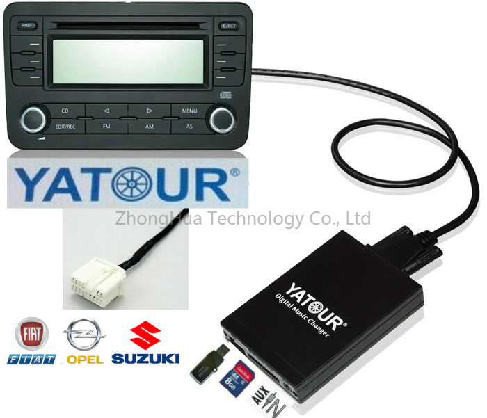 ФОТО Yatour Digital Music CD Changer Car MP3 DMC USB SD AUX MP3 Bluetooth) for Fiat Sedici/Suzuki/Opel Agila 14-Pin PACR-xxx Adapter