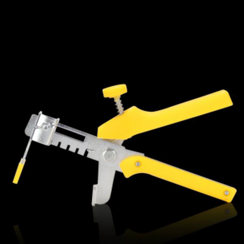Durable Metal Tiling Locator Gun Floor Ceramic Tile Leveling System Yellow Plier Tile Installation Tools Spacer Leveler System