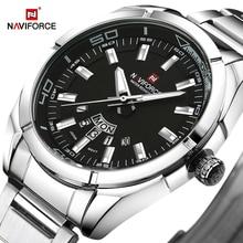 NAVIFORCE למעלה מותג יוקרה גברים מקרית אופנה ספורט שעונים גברים של תאריך שעון מלא פלדה קוורץ שעון יד Relogio Masculino