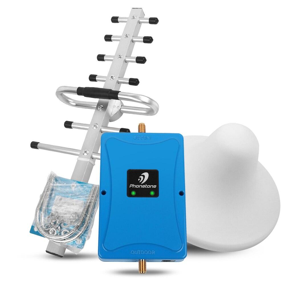 Répéteur GSM 900 UMTS 1800 MHz double bande 3/8 2G 3G 4G LTE amplificateur de Signal cellulaire amplificateur de Signal cellulaire EGSM 70dB + antenne Yagi/plafin