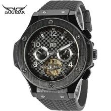 JARGAR Men's Watch Fashion Automatic Tourbillion Rubber Classic band dress Wristwatch Color Black JAG228M3