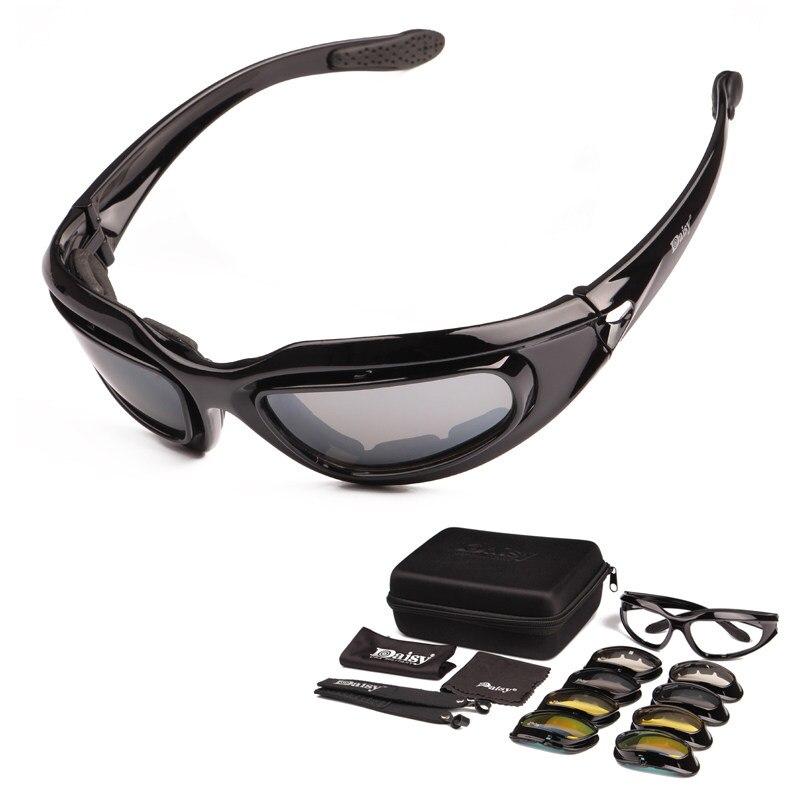 Margarida Óculos Polarizados Óculos de Ciclismo Óculos óculos de Sol  Militares Do Exército 4 Lente Jogo 96b1e51df5