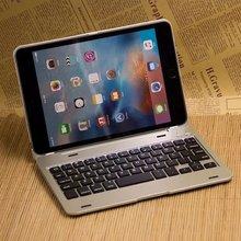 Nueva Delgado Caso Para el mini ipad 4 Teclado Bluetooth Inalámbrico caso Funda Protectora de Cuerpo Completo Para iPad mini 4 Teclado caso